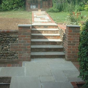 New steps and path in Sheringham