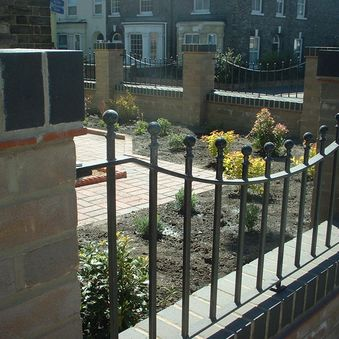New walls and courtyard garden in Norwich