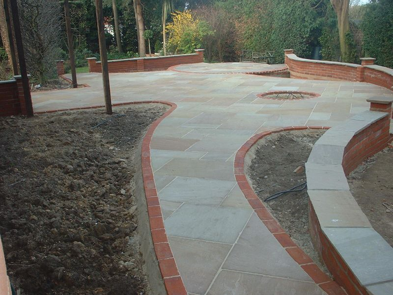 Paved garden design